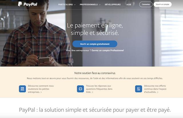 ouvrir un compte PayPal