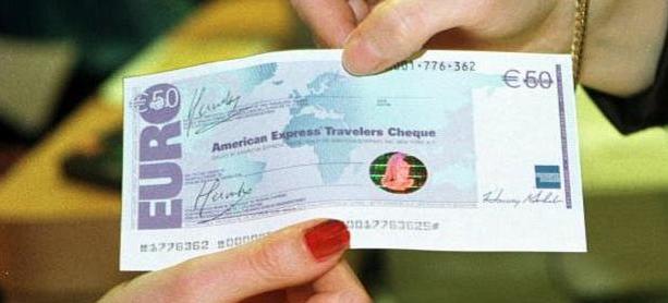 payer avec chèque de voyage