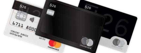 les différentes carte bancaire N26