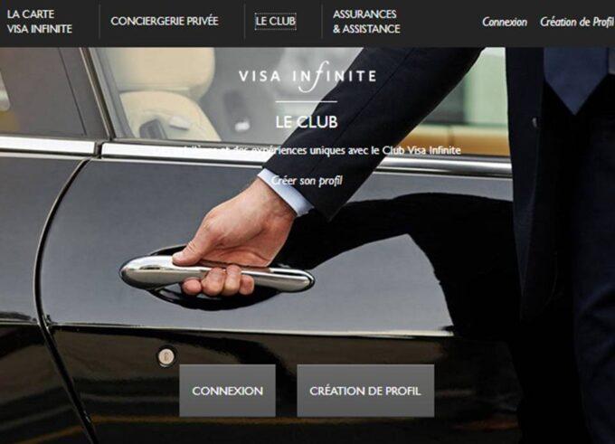Carte Visa Infinite gratuite