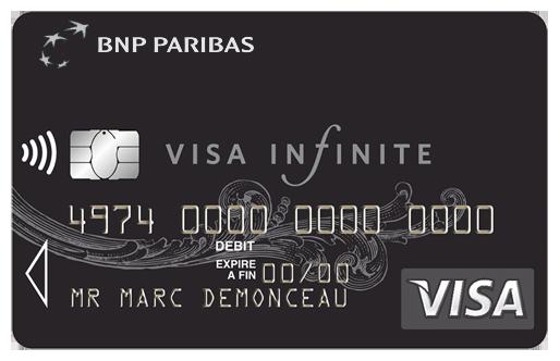 BNP Paribas Visa infinite pas cher